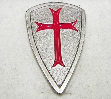 Casamasonica Pin 103 Escudo Cruz Templario Esmaltada